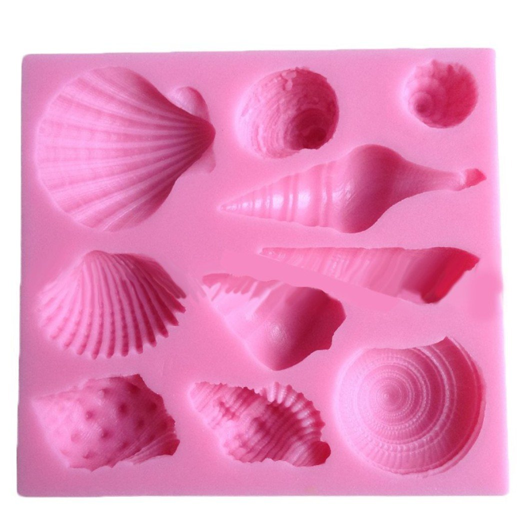 Elinka Cute Romantic Seashell Sea Shell Silicone Cake Mould Chocolate Fondant Mold