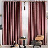 Blackout Solid Dark Red Curtain – KoTing 1 Panel Small Texture Curtain For Bedroom Grommet Top 42 by 96-Inches For Sale