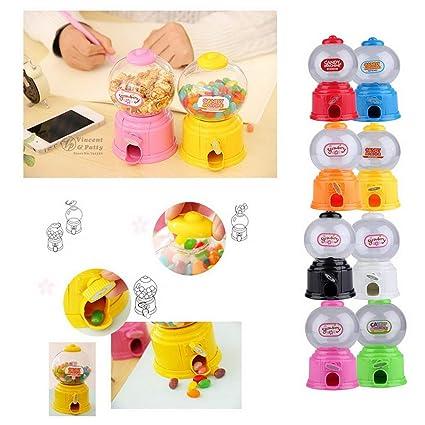 banbie8409 Mini máquina de golosinas de plástico Burbuja Dispensador Gumball Moneda Banco Niños Juguete para Gumballs
