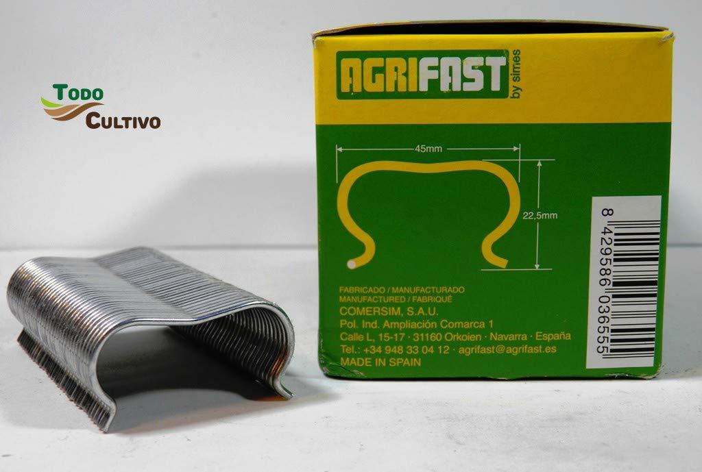 Todocultivo Grapa Tubo Goteo Agrifast E-45. Pack 8 Cajas de 650 Unidades.: Amazon.es: Jardín
