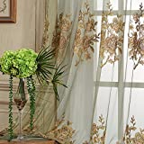 50″W x 84″L (Set of 2 panels) Multi Size Available Custom Country Rustic Jacquard Floral Rod Pocket Energy Efficient Window Treatment Draperies & Curtains Panels Sheer Curtains For Sale