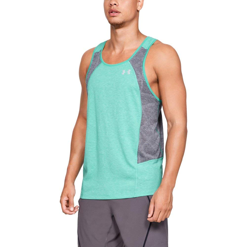 Under Armour Men's Swyft Singlet, Green Malachite Ligh (350), Small