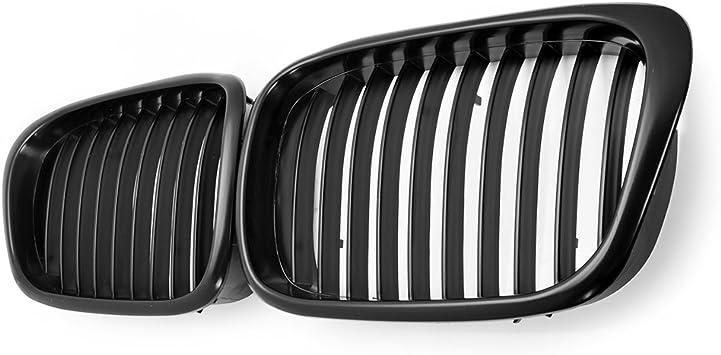 Matte Black Front Kidney Grille Grill For 97-03 BMW E39 5 Series 525i 528i 530i 540i M5 4-Door