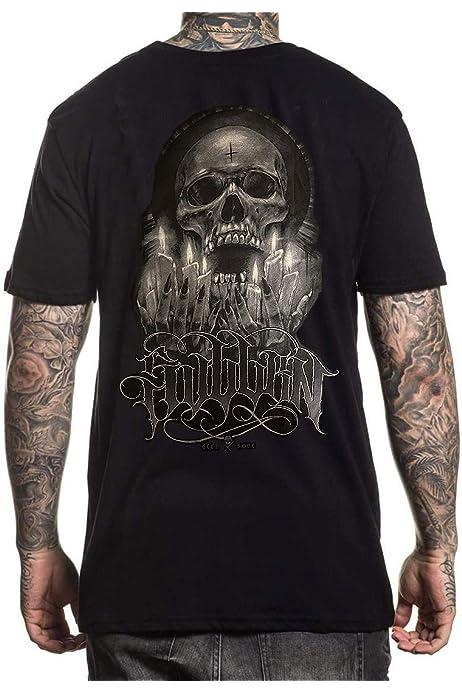 Sullen Men/'s Wolf Paq Premium Short Sleeve T Shirt Vintage Black Artwork by D...