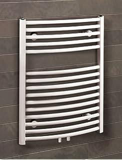 Bad Heizkörper Florenz Gebogen, 70x50 Cm, 331 Watt Leistung,  Mittelanschluss, Alpin