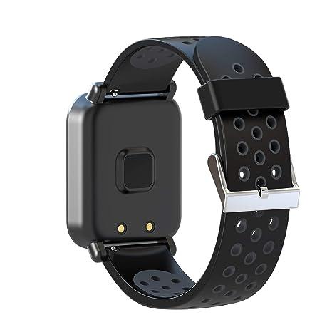 Leotec Helse - Reloj inteligente, Color Negro