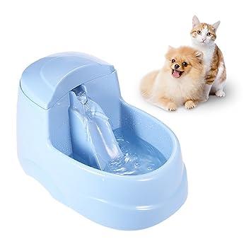 Fuente de agua para perros y gatos dispensador automático de agua de comida para mascotas améliorer