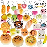 ANMAGO Squishies Slow Rising Squishy Toys 20pcs Random Jumbo Medium Mini Kawaii Squishies Panda, Buns & Cake Squishies, Phone Straps (20 pcs)