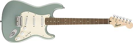 Squier by Fender Bullet Stratocaster - Cola dura - Diapasón Laurel - Sonic Gray: Amazon.es: Instrumentos musicales
