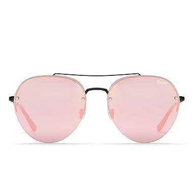 f53c4deec6472 Quay Australia SOMERSET Women s Sunglasses Modern Aviator Sunnies - Black  Pink