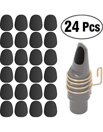 24 Pieces Eison Food Grade Alto Tenor Saxophone Mouthpiece Cushions Sax Clarinet Mouthpiece Patches Pads Cushions