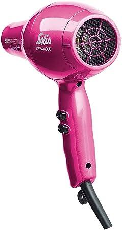 Solis Sèche cheveux professionnel ultra léger Avec plusieurs accessoires rose bonbon