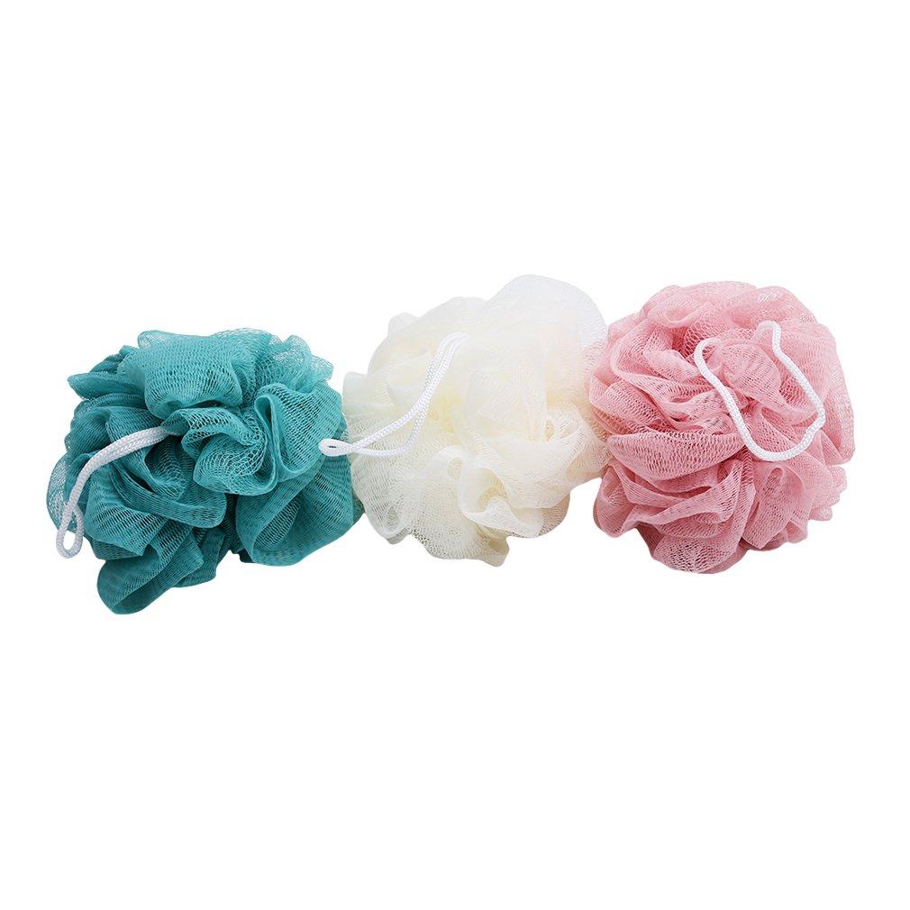 Lalang 3pcs Bath Puff Soft Bath Extra-Dense Shower Ball Loofah Sponge Body Exfoliate Puff 88-store