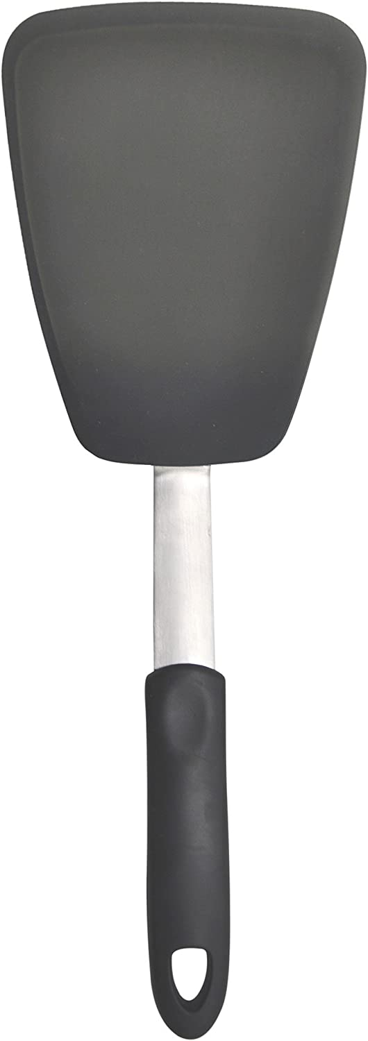 Unicook Flexible Silicone Spatula, Turner, 600F Heat Resistant, Ideal for Flipping Eggs, Burgers, Crepes and More, Large