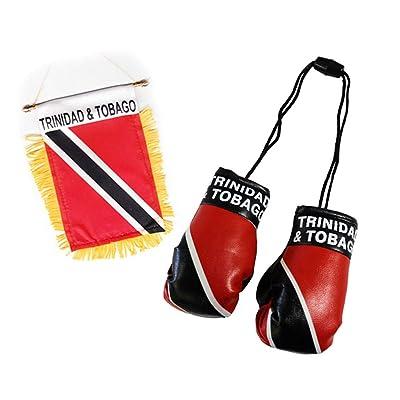 Flagline Trinidad and Tobago - Boxing Glove and Window Hanger Combo : Garden & Outdoor