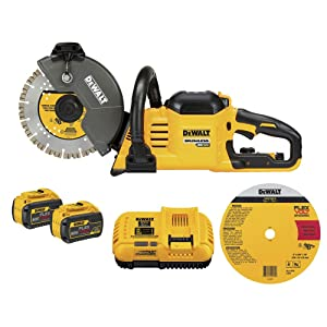 Dewalt DCS690X2 FLEXVOLT 60V Max Cordless Brushless 9 in Cut-Off Saw Kit