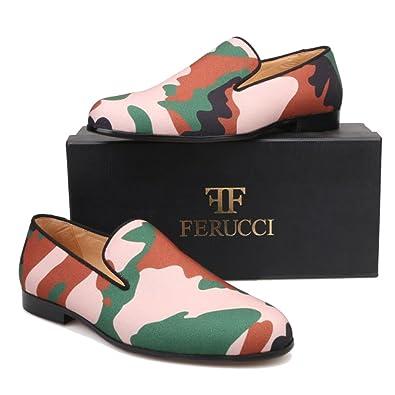 fcb86c740b519 Amazon.com   FERUCCI Handmade Men Camouflage Slippers Flats Loafers ...