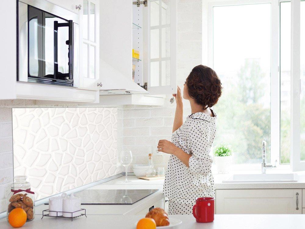 Bild-Motiv Steinwand Küchenspiegel Glasbild ALS ...