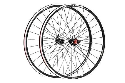 Raleigh - Rueda trasera unisex para bicicleta de carretera, color negro, 700 C