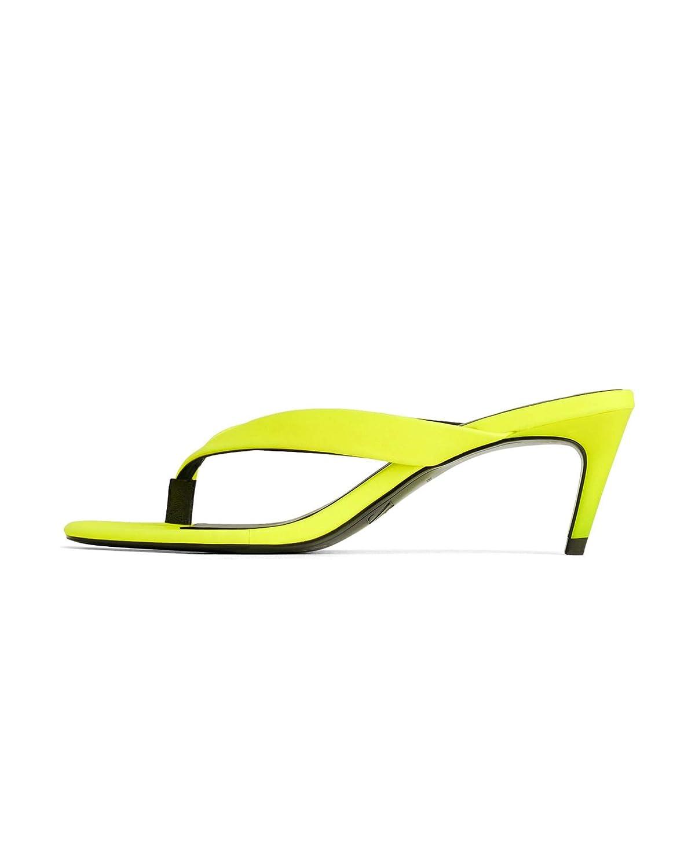 fccab9ee78c Amazon.com | Zara Women Neon Kitten-Heel Sandals 3679/001 | Sandals