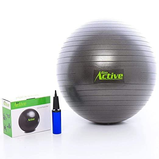 Amazon.com: GO Active Lifestyles Exercise Ball - Stability Ball - Fitness Ball - Large Workout Balls for Balance and Yoga - Includes Pump - Anti Burst ...
