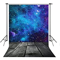 FUERMOR Customized Background 5X7ft Fantasy Blue Starry Sky Photography Backdrop For Children Portrait Shooting Props A020