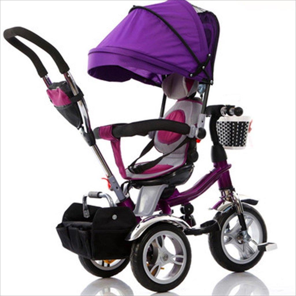 子供の屋内屋外の小さな三輪車自転車の男の子の自転車の自転車6ヶ月-5歳の赤ちゃんの3つのホイールトロリー目玉、泡のホイール/回転座席 (色 : 3) B07DVSQ6QT3