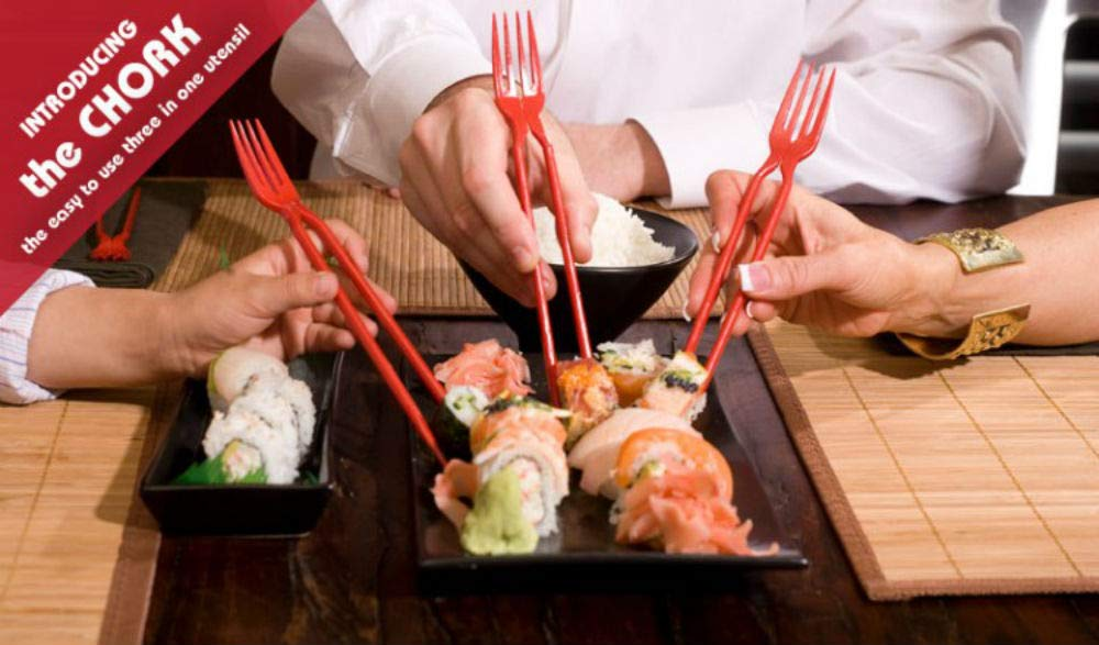The Chork - Chopsticks and Fork in One (12 Pack)