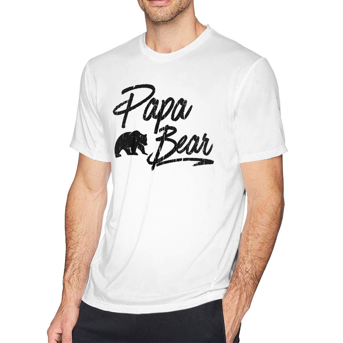 Papa Bear S Crew Neck Short Sleeve Tshirt Casual Shirt For