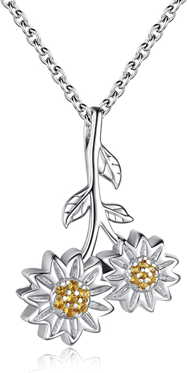 Urn Necklace Memorial Ash Pendant Keepsake Jewelry Bereavement Gifts for Loss of a Loved One 925 Sterling Silver Cremation Jewelry for Ashes sunflower urn necklace