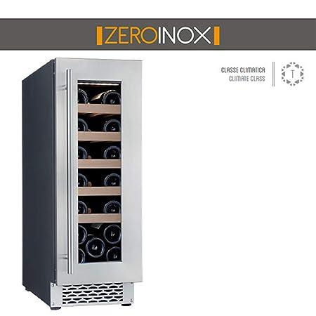 ZeroInox - Nevera de Vino ventilado, 50 litros, con estantes de ...