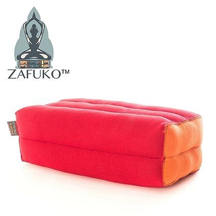 Zafuko Standard Meditation and Yoga Cushion - Bright Red/Orange