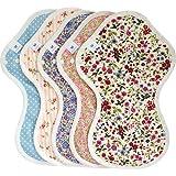 布ナプキン Lサイズ 5枚 セット多い日夜用 生理ナプキン 長さ31cm ナイトガード| エニュアンス 無漂白 無染色 オーガニック コットン使用