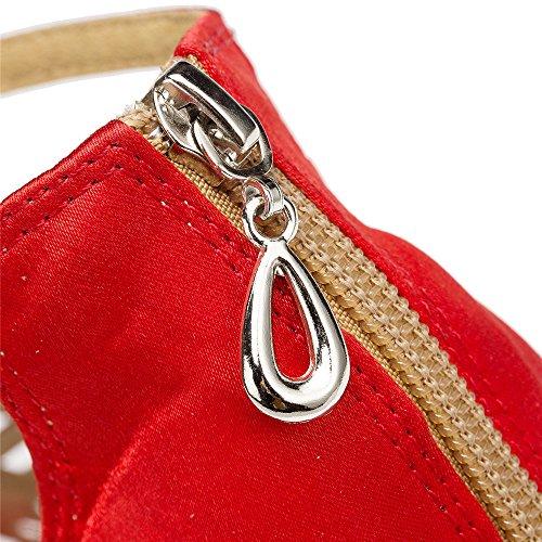 Interior De Damas Zapatos De Baile Zapatos De Baile Capilla De Lombardía Rojo de 5 cm.