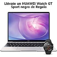 "Huawei Matebook 13 2020 - Ordenador Portátil Ultrafino 13"" 2K (Intel Core i5-10210U, 8GB RAM, 512GB SSD, Windows 10 Home), Mystic Silver + Watch GT Sport Black, Teclado QWERTY Español"