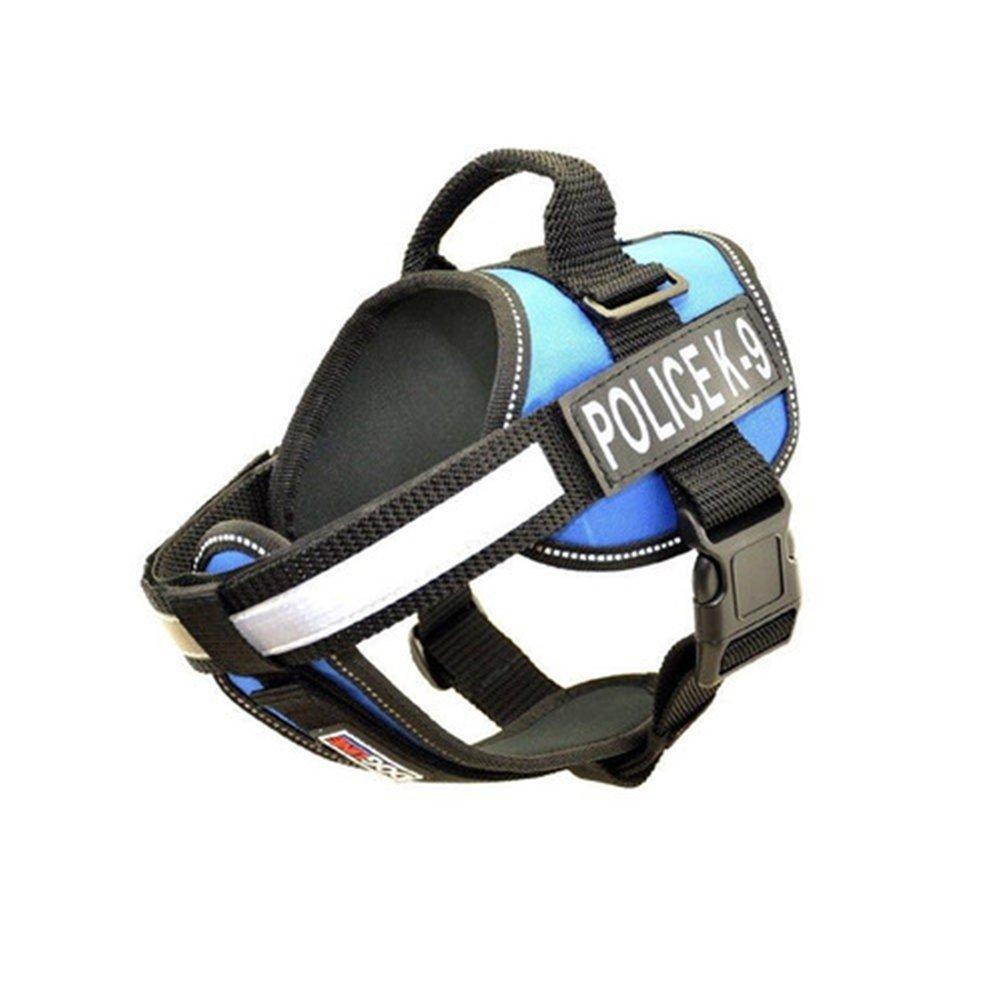 bluee L bluee L Dogline N0203-2 28-38 in. Unimax Multi Purpose Dog Harness44; bluee