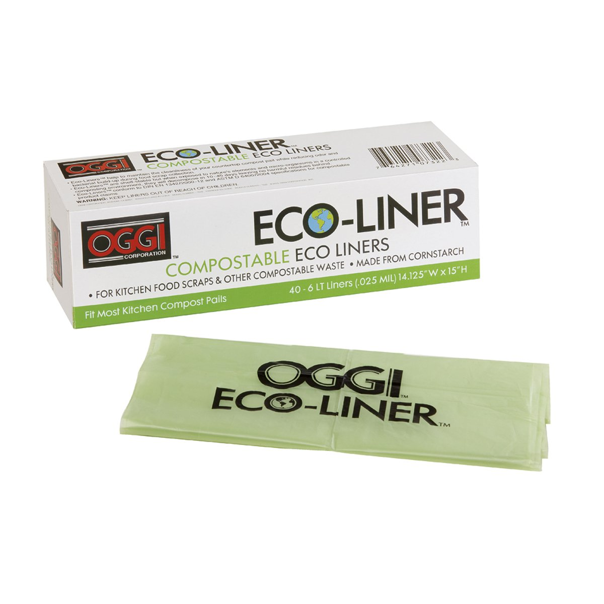Oggi Eco-Liner Compost Pail Liners 7322