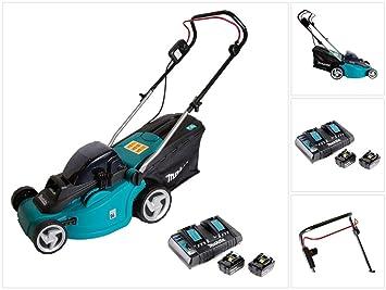 Makita DLM 380 PF2 - Cortacésped con batería (36 V, 2 baterías de ...