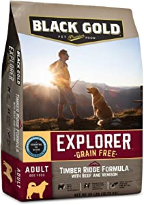 Black Gold Explorer Grain Free Timber Ridge Recipe with Beef & Venison Dry Dog Food