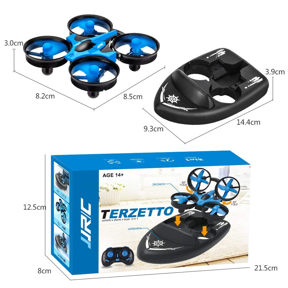 Gifts for Drone Enthusiast Detachable Remote-Control Drone Upgraded RC Drone Toys for Kids /& Beginner SeeKool 3 in 1 Mini Drone Support Flying Air Boat Land Driving Mode with 360/° Flips Stunt