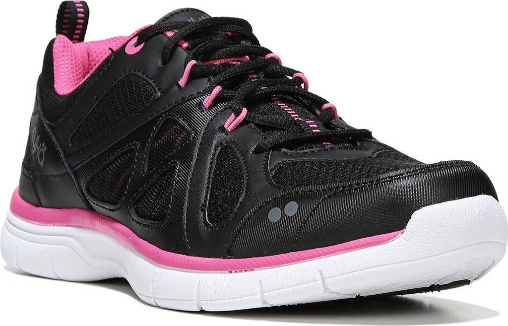 Ryka Women's Divine Cross Training Shoes Black/Pink B01M24TFKW 9.5 B(M) US|Black/Athena Pink/Frost Grey