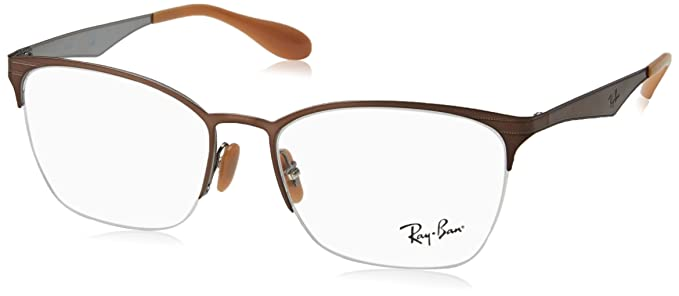 b54e1765044aa Amazon.com  Ray-Ban Women s RX6345 Eyeglasses Brushed Light Brown On ...