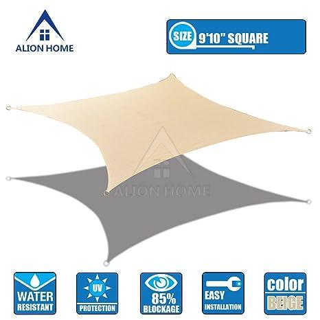 Amazon Com Alion Home Hdpe 180 Gsm Sun Shade Sail Color Banha
