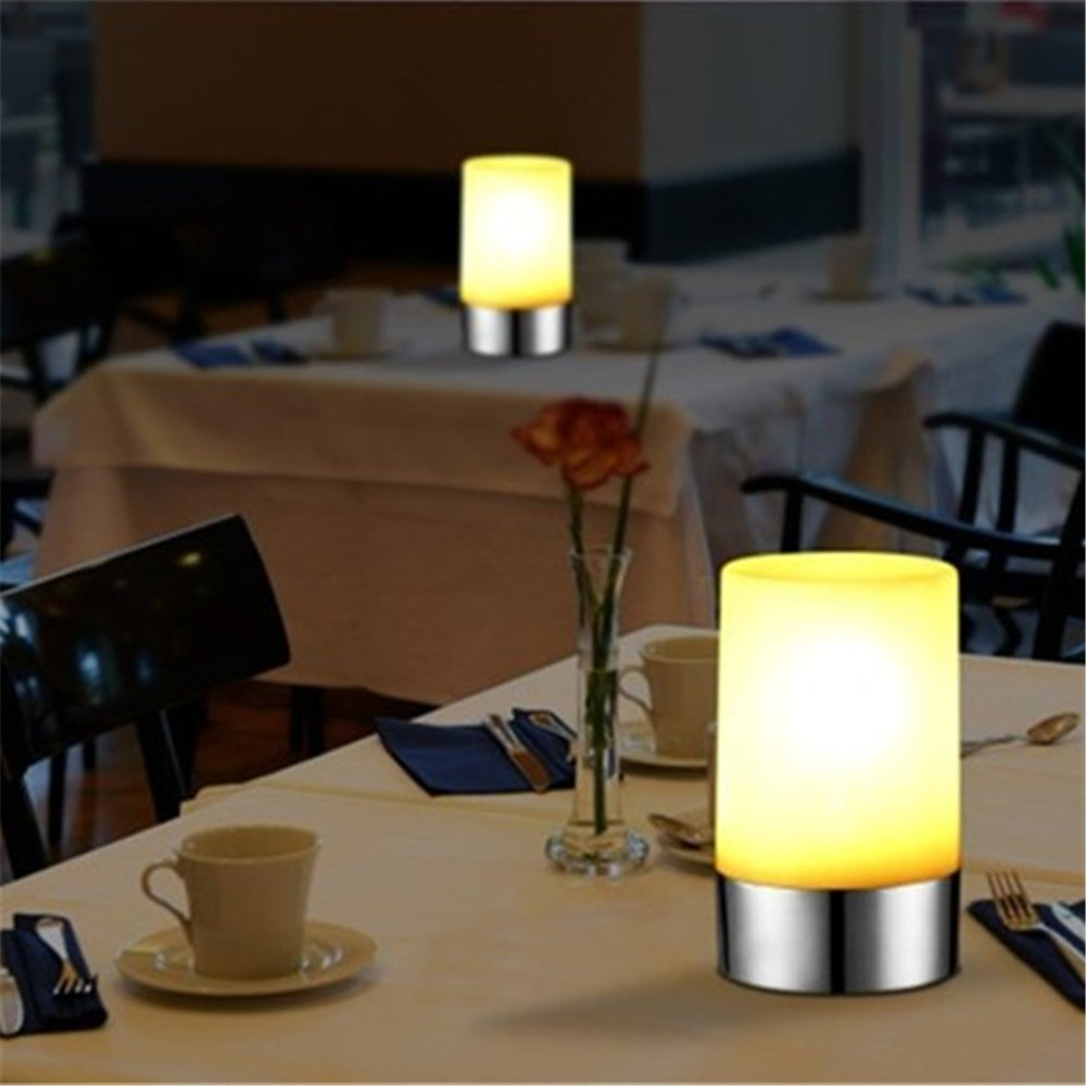 Amazon.com: VONGEM LED Rechargeable Table Lamp Widely Used In Home Hotel  Restaurant Bar KTV With USB Cable Ten Key Remote Controller(Multi Color):  Home U0026 ...