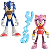 Sonic Boom 3-Inch Sonic the Hedgehog and Amy Rose Articulated Figure with Accessory (Pack of 2)