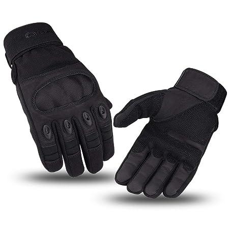 WESTWOOD FOX WFX Guantes de piel para motocicleta con nudillos duros senderismo camping guantes de pantalla t/áctil guantes para motocicleta guantes de dedo completo