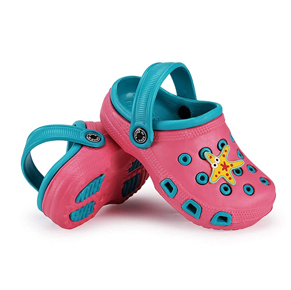 NEW Toddler Girls Water Shoes Small 5-6 Pink Sandals Clogs Slip On Small Pool