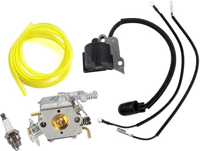 Aisen 2/x Filtre /à air pour Partner 350/351/370/371/390/420/Poulan 2050/2115/2150/Filtre avec pompe damor/çage Essence Bougie dallumage