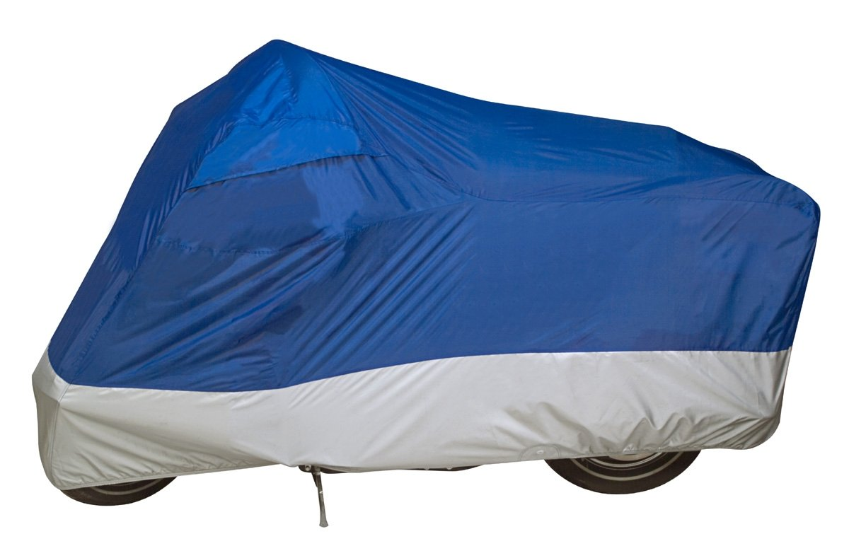 Guardian by Dowco 26034-01 UltraLite Water Resistant Indoor/Outdoor Motorcycle Cover: Blue, Large