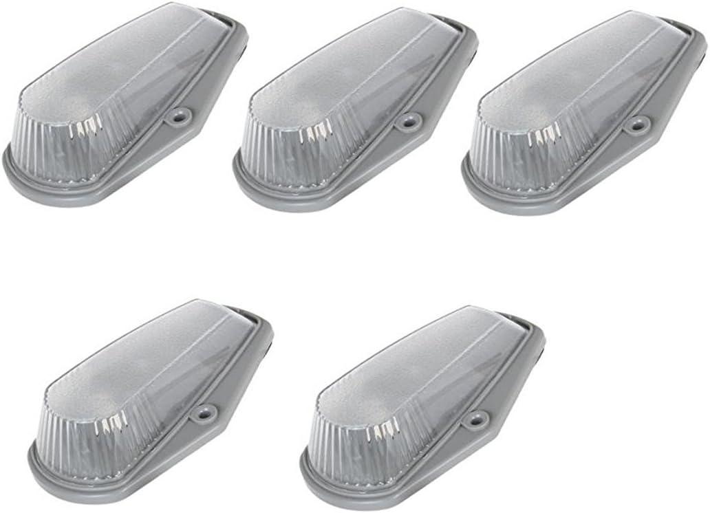 K1500 2500 3500 4500 5500 6500 7500 Kodiak Topkick Trucks 5pcs Cab Marker Running Light Smoke Cover Base Lens for 1988-2002 Chevy//GMC C Smoke